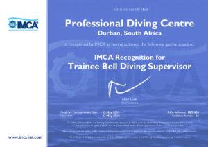 IMCA Trainee Bell Diving Supervisor