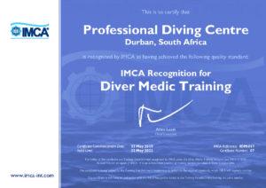 Diver Medic Training Certificate